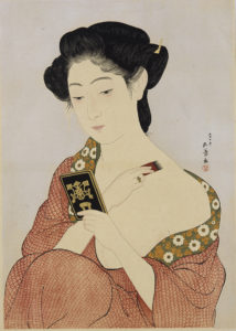 橋口五葉《化粧の女》大正7(1918)年