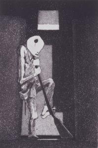 浜田知明《初年兵哀歌(歩哨)》昭和29(1954)年
