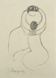 永瀬義郎《抱擁》大正4(1915)年